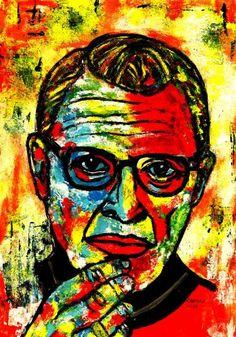 """Saatchi Art Artist CARMEN LUNA; Painting, """"30- Jeff Goldbum."""" #art"""