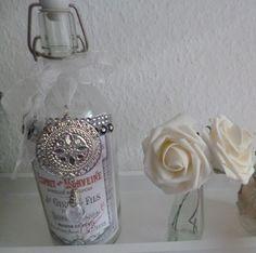 Deko-Objekte - Wunderschöne Dekoflasche - ein Designerstück von Rosettas-Laden bei DaWanda