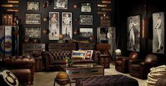 Steampunk victorian living room decor: 21 cool tips to steampunk your home, interior design digital art digital steampunk victorian, steampunk interior design: where old meets new Casa Steampunk, Steampunk Interior, Steampunk Furniture, Modern Man Cave, Rustic Man Cave, Sports Man Cave, Deco Restaurant, Estilo Interior, Ultimate Man Cave
