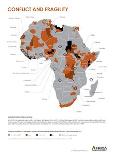 Africa Conflict Map: Excellent color choices, but use of choropleth method overstates the extent to which conflicts affect territories and populations. Much of the shaded areas are desert or otherwise unpopulated. Location data should be weighted by population or incidence rates to be more precise.