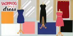 shoppingforadress0820 Scrapbook Page Layouts, Scrapbook Pages, Scrapbooking, Kids Rugs, Fun, Shopping, Precious Moments, Dresses, Vestidos