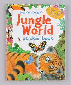 Jungle World Sticker Book by Silver Dolphin Books #zulily #zulilyfinds