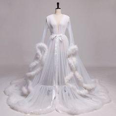 White Bridal Robe, Bridal Robes, Bridal Lingerie, Lingerie Party, Evening Dresses, Prom Dresses, Wedding Dresses, Ropa Shabby Chic, Fancy Robes