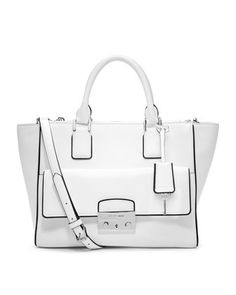 195568a18ba1 MICHAEL Michael Kors Audrey Large Convertible Satchel (Optic White) Whether  it s a glamorous getaway or an afternoon in town