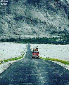 Awesome view of beautiful Karakoram highway Hunza valley Gilgit Baltistan Pakistan