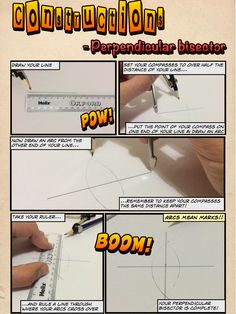 Mr Collins Mathematics Blog: Constructions resources using 'Comic Life' --- I love these guides to geometry constructions. So cool!