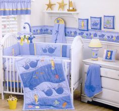 Baby Whale Nursery. Oh if I had another baby boy..... :)