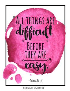 Growth Mindset Quotes for Kids & Parents - The Kitchen Table Classroom These free watercolor growth mindset quotes for kids are a great reminder to keep trying! Growth quotes perfect for encouraging growth mindset for kids! Positive Education Quotes, Positive Quotes For Life Happiness, Education Quotes For Teachers, Kids Education, Special Education, Positive School Quotes, Primary Education, Childhood Education, Good Teacher Quotes