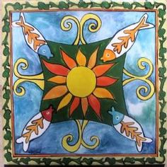 Hand painted tile by Monica tiles Tiles, Tapestry, Hand Painted, Painting, Home Decor, Art, Room Tiles, Hanging Tapestry, Art Background