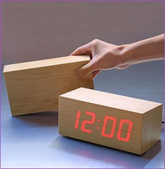 A plain wood block magically turns into a clock! The LED light shines through a thin piece of wood to create the wood clock.