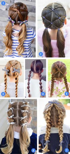 Easy Girls Hairstyles For Toddlers, Tweens & Teens - what moms love - - Over 100 of the best easy girls hairstyles for toddlers to tweens & teens. Fun braids, ponytails, pigtails, half up & buns for school or fancy occasions. Teen Girl Hairstyles, Girls Hairdos, Easy Little Girl Hairstyles, Princess Hairstyles, Cute Hairstyles For Short Hair, Girl Short Hair, Cute Girl Hair, Hair For Little Girls, Cute Hairstyles For Toddlers