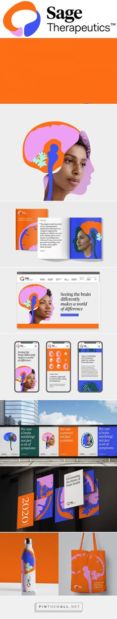 New Logo and Identity for Sage Therapeutics by Wolff Olins. - a grouped images picture - Pin Them All Brand Identity Design, Branding Design, Sign Design, Web Design, Brand Guidelines, Pinterest Marketing, Graphic Design Inspiration, Poster, Sage