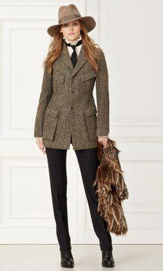 Shannon Striped Tweed Jacket - Collection Apparel Jackets - RalphLauren.com