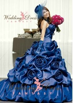 Sapphire Blue Wedding Dress | Lunar Chronicles Inspired Wedding ...