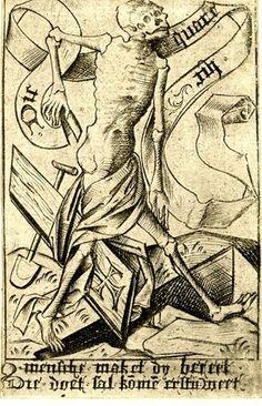 Israhel van Meckenem Memento Mori  Engraving  1460-1500 (c.)