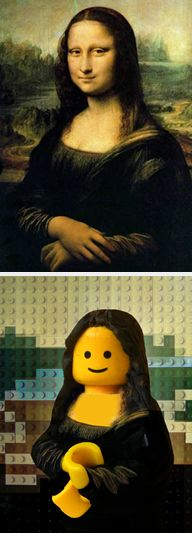 Lego Art Mona Lisa - can you create a lego character based on a famous portrait?