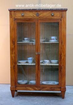Antike Louis Seize Vitrine, Antique Cabinet, Bookcase, French Furniture