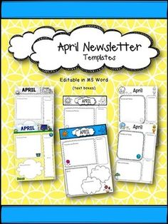 1000 images about free preschool printables on pinterest for Free april newsletter template