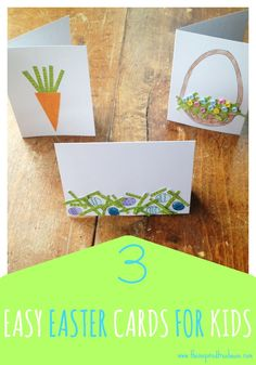 Fine Motor Activities - 3 Easy Easter Cards for Kids