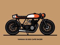 Yamaha XS 650 Cafe Racer by Nick Slater