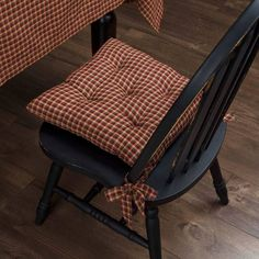 Patriotic Patch Plaid Chair Pad 15 x 15 Patio Chairs, Table And Chairs, Office Chairs, Club Chairs, Dining Table, Cushions On Sofa, Sofa Chair, Plaid Chair, Plaid Fabric