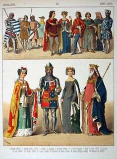 The clothing and different ranks of people in the Middle Ages.