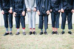 Groomsmen fancy wedding socks, Sunset Ranch Hawaii