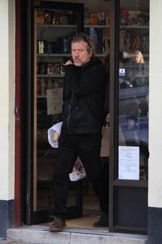 Robert shopping in Primrose Hill, London where he has another home.