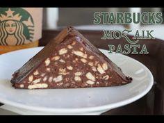 STARBUCKS MOZAIK PASTA MALZEMELER: 200 ml krema 400 gr bitter cikolata (200 gr bitter ve 200 gr suylu cikolatayida karistirabilirsiniz) 100 gr petibor biskuv...