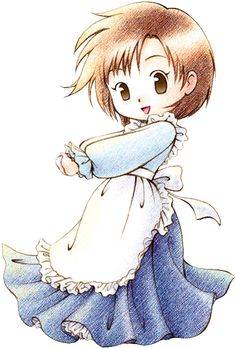 Harvest Moon, Elli, such nostalgia! Her outfit is just so cute and cute Harvest Moon Btn, Harvest Moon Game, Monogatari Series, Moon Lovers, Moon Art, Cosplay, Cute Gif, Slayer Anime, Japanese Art
