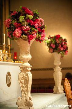 Lani Elizabeth - Ceremony, Wedding Flowers, Urns, Pews, Aisle, Wedding Photo Image Gallery