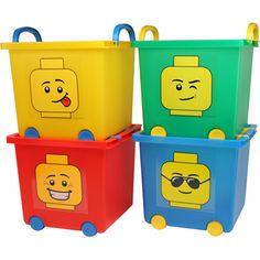 $39.99 IRIS Set Of 4 LEGO Stacking Storage Baskets