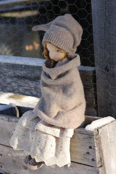Melina in her winter clothes, by Fig&me.
