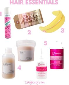 Hair Essentials {more on DailyKaty.com}