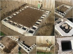 Cinder-Block Raised Garden Bed: this makes more sense to me than wooden raised beds. Won't rot, plus you can either sink fence poles in or plant flowers in the cinder block holes. Raised Garden Beds, Raised Beds, Raised Gardens, Raised Patio, Cinder Block Garden, Cinder Blocks, Box Deco, Horticulture, Lawn And Garden