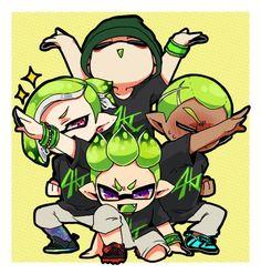 Splatoon by 🍄ほくお🍄 ( Boy Bands, Art Boards, Cool Art, Nintendo, Gaming, Fan Art, Manga, Artist, Cute