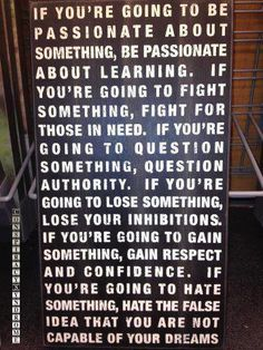If you're going to be passionate about something | Anonymous ART of Revolution