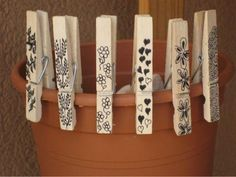 Wooden clothespins are a surprisingly useful material for home decorating on a budget