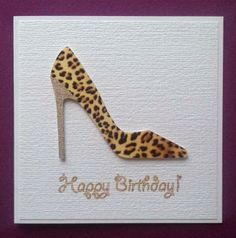 Wild thing handmade shoe birthday card