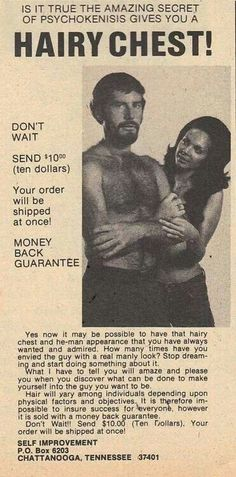 Hairy chest ad