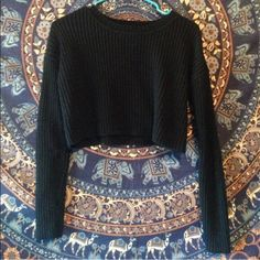 Nasty Gal cropped sweater Good condition. Cropped with a boxy fit. Ships within 2 days of purchase! Nasty Gal Tops Crop Tops