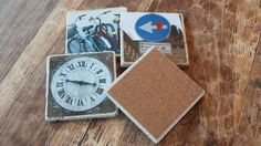 artisan coasters with corked back