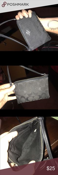 Coach Wristlet Great condition. No tears or rips. Small in size. Coach Bags Clutches & Wristlets