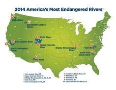 Announcing the 10 rivers named America's Most Endangered Rivers of 2014!   See what threats are facing these rivers and then take action for these 10. With your help, we can make a difference to help these rivers! www.americanrivers.org/blog/announcing-americas-most-endangered-rivers-2014/