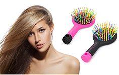 Spazzola antistatica per capelli Magic Hair. Vari colori disponibili by Ducomi (Nero)