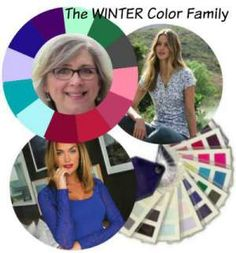 Marcia with Winter coloring - Online Color Analysis - a questionnaire and a couple of photos and directly into your Inbox comes an indepth professional Color Analysis, a 30 page Color Profile with 45 swatch colors and beautiful photos.  #color analysis #Winter coloring