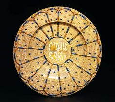 Hispano-Moresque dish from Spain, after 1475[1] Tin-glazed earthenware with lustred decoration
