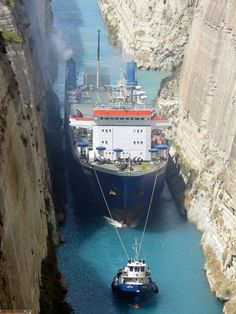 I LOVE Tug Boats!    Corinth Canal in Greece