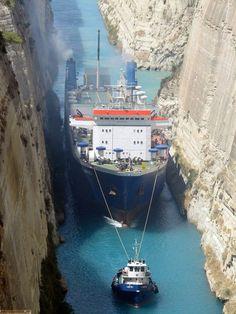 I LOVE Tug Boats!    Corinth Canal in Greece