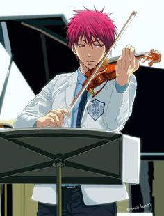 Akashi Seijūrō 赤司征十郎 | Rakuzan Kōkō | Kuroko no Basket |先日のワンドロお題で描いたヴァイオリン赤司くんの色塗り完成